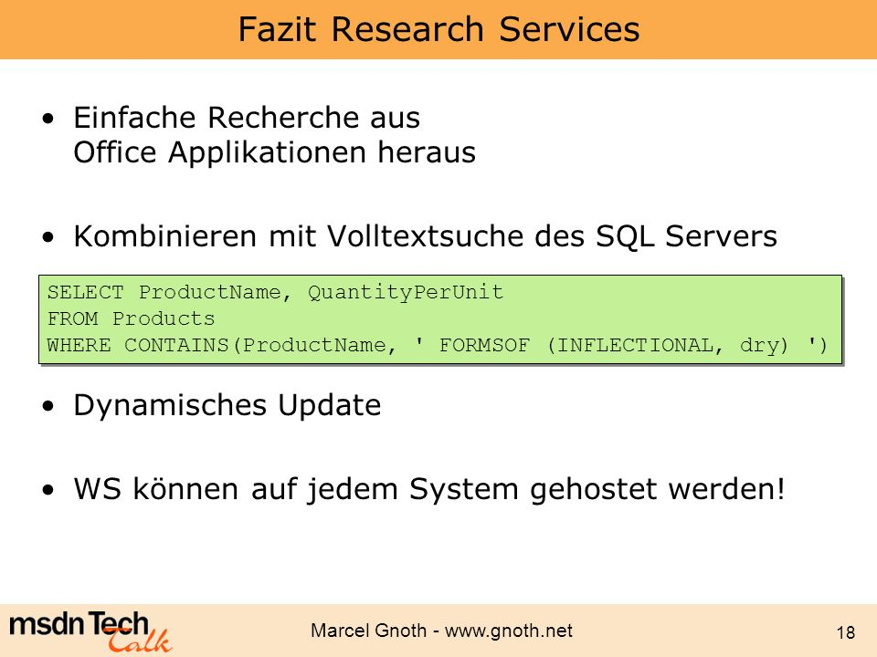 Fazit Research Services