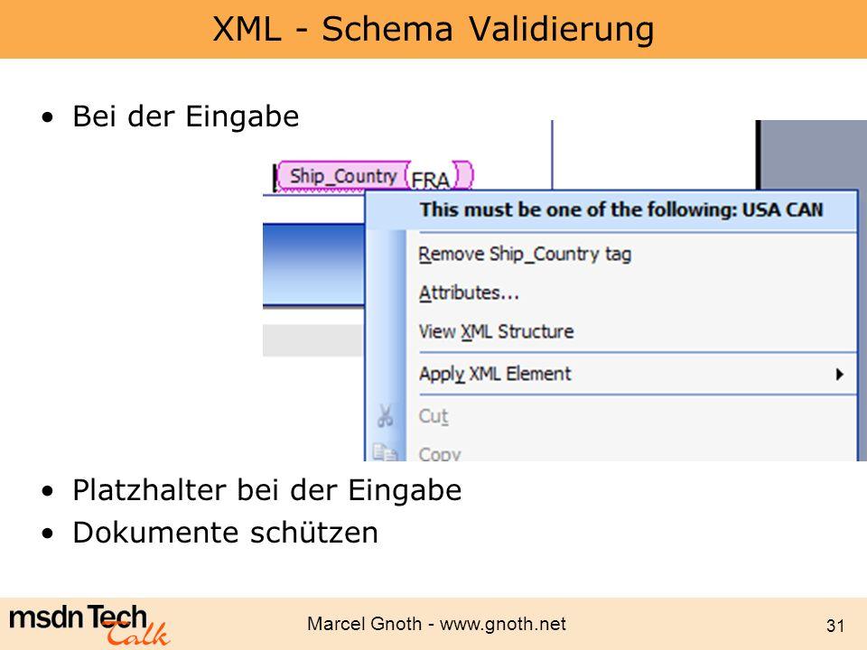 XML - Schema Validierung