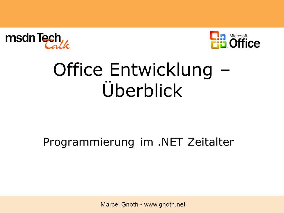 Office Entwicklung – Überblick
