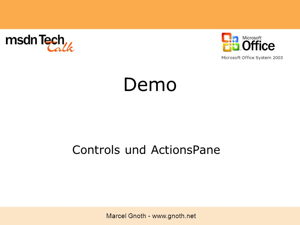 Controls und ActionsPane