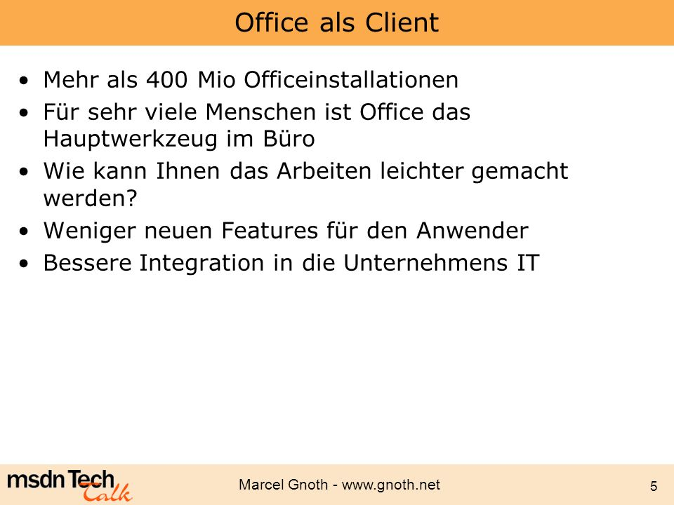 Office als Client Mehr als 400 Mio Officeinstallationen