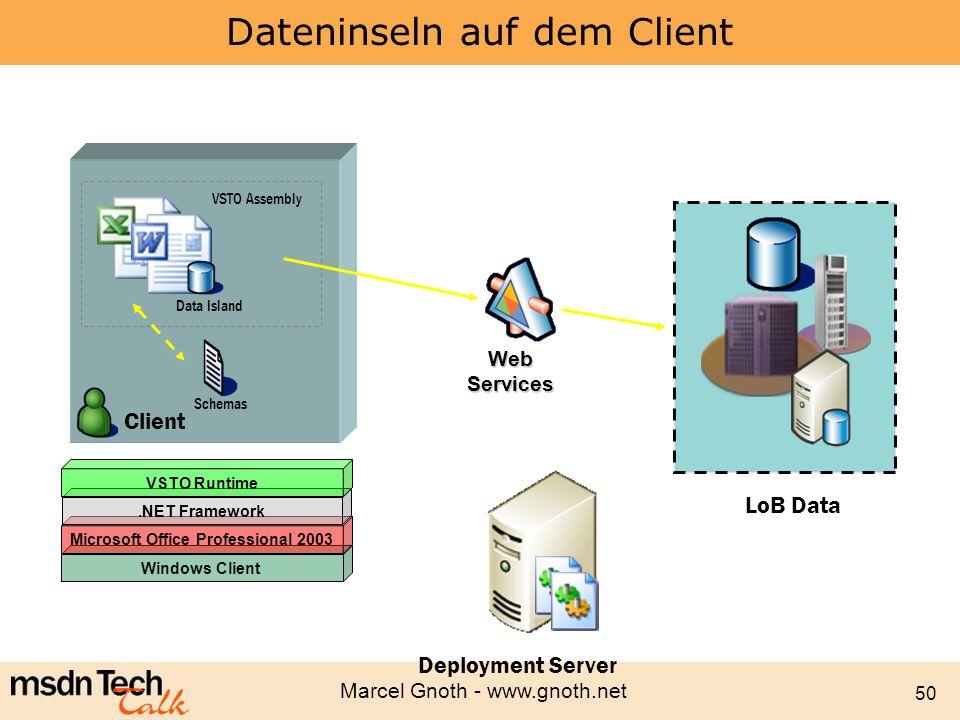 Dateninseln auf dem Client
