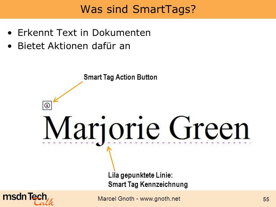 Was sind SmartTags Erkennt Text in Dokumenten