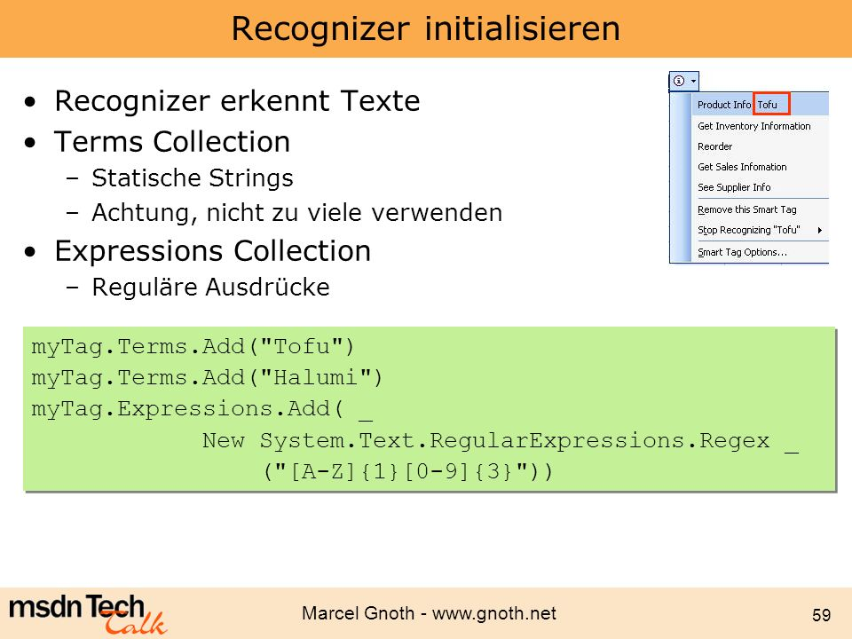 Recognizer initialisieren