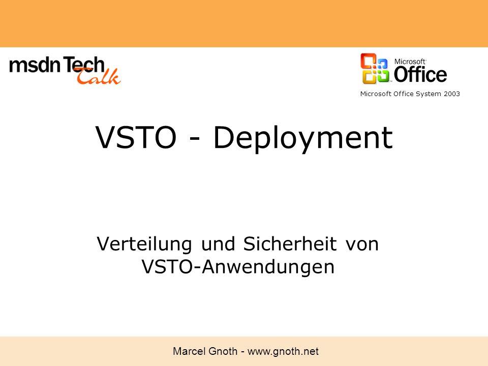 Verteilung und Sicherheit von VSTO-Anwendungen