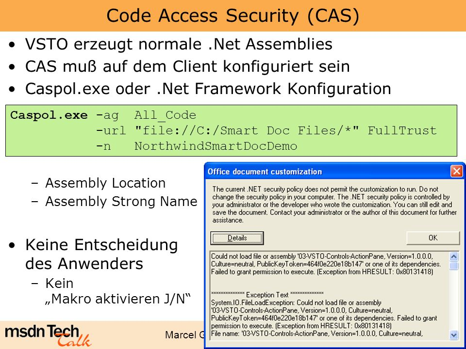 Code Access Security (CAS)