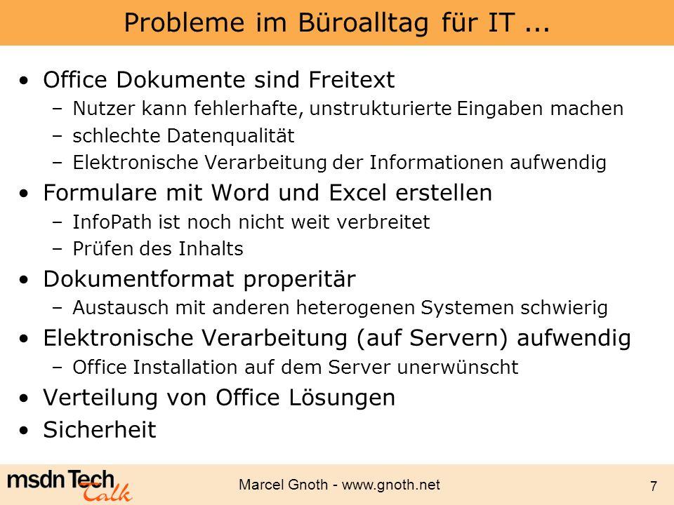 Probleme im Büroalltag für IT ...