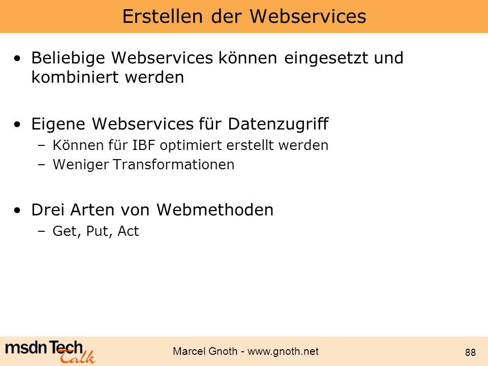 Erstellen der Webservices