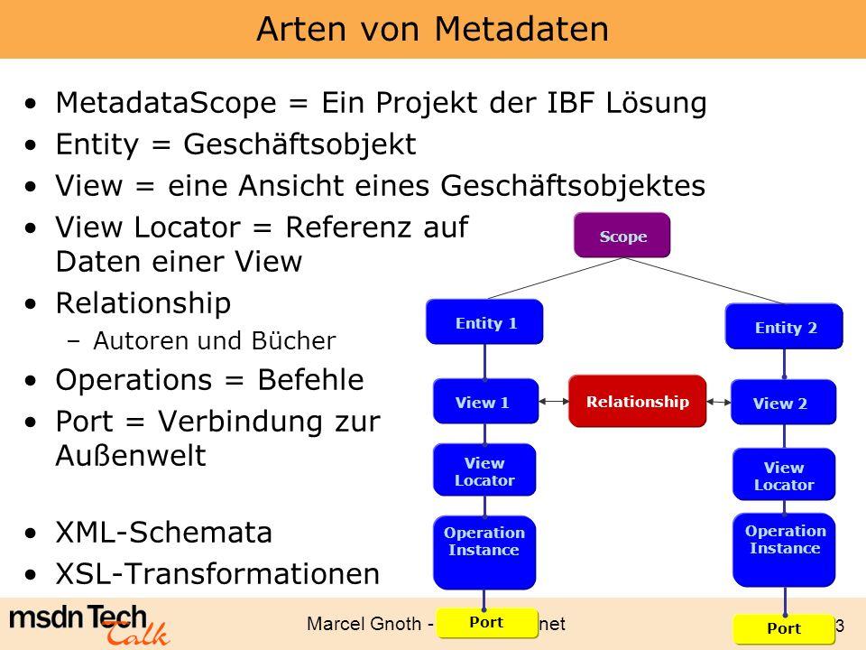 Arten von Metadaten MetadataScope = Ein Projekt der IBF Lösung
