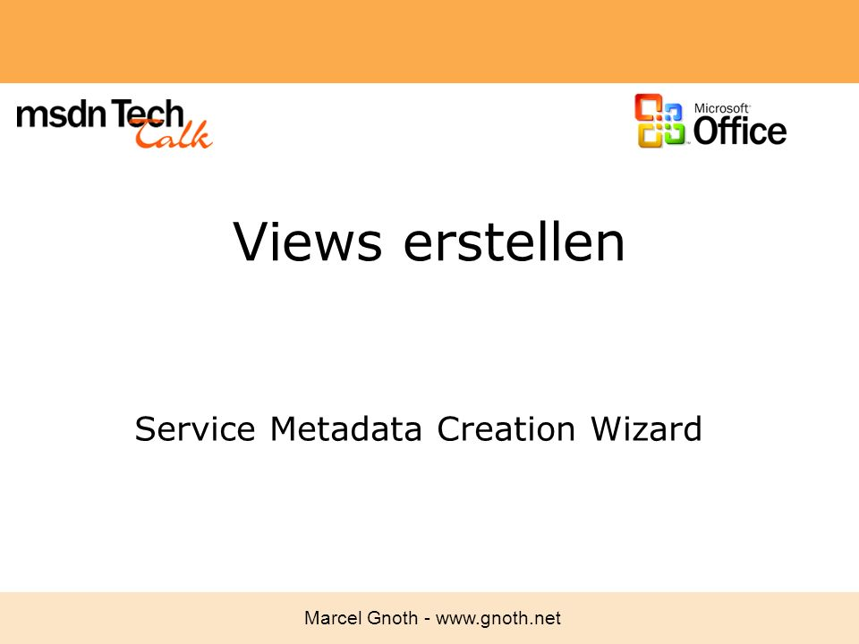 Service Metadata Creation Wizard