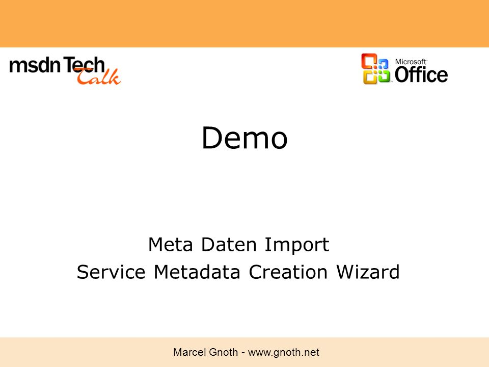Meta Daten Import Service Metadata Creation Wizard