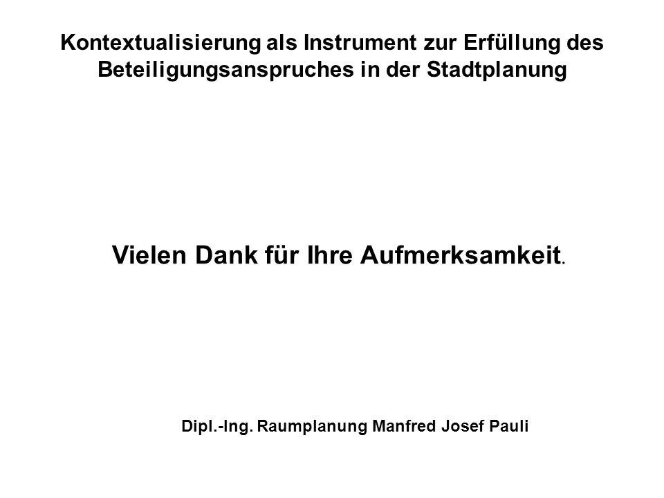 Dipl.-Ing. Raumplanung Manfred Josef Pauli