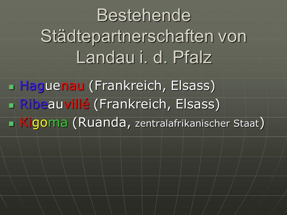 Bestehende Städtepartnerschaften von Landau i. d. Pfalz