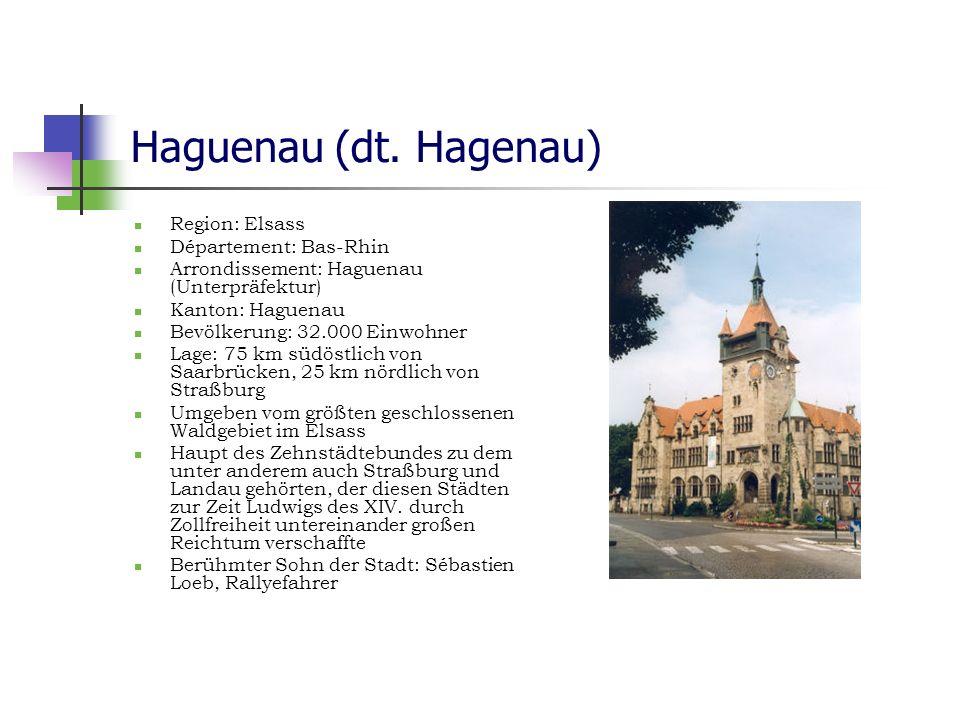 Haguenau (dt. Hagenau) Region: Elsass Département: Bas-Rhin
