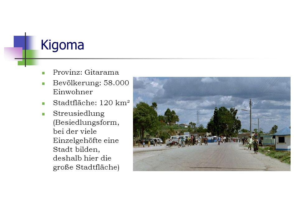 Kigoma Provinz: Gitarama Bevölkerung: 58.000 Einwohner