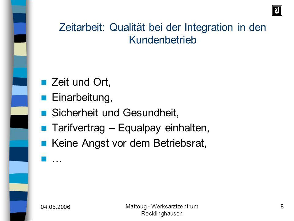 Zeitarbeit: Qualität bei der Integration in den Kundenbetrieb
