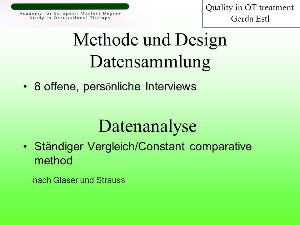 Methode und Design Datensammlung