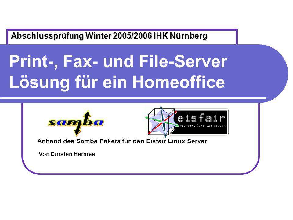 Print-, Fax- und File-Server Lösung für ein Homeoffice