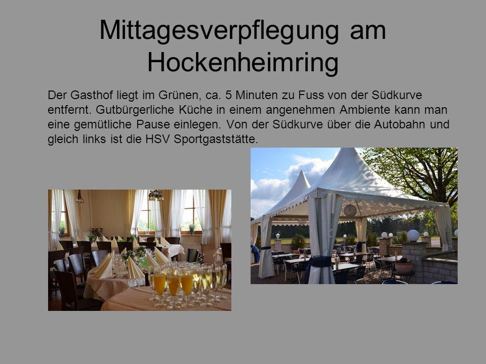 Mittagesverpflegung am Hockenheimring