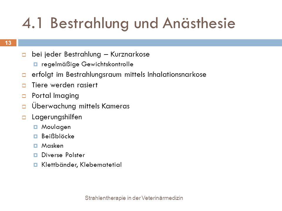 4.1 Bestrahlung und Anästhesie