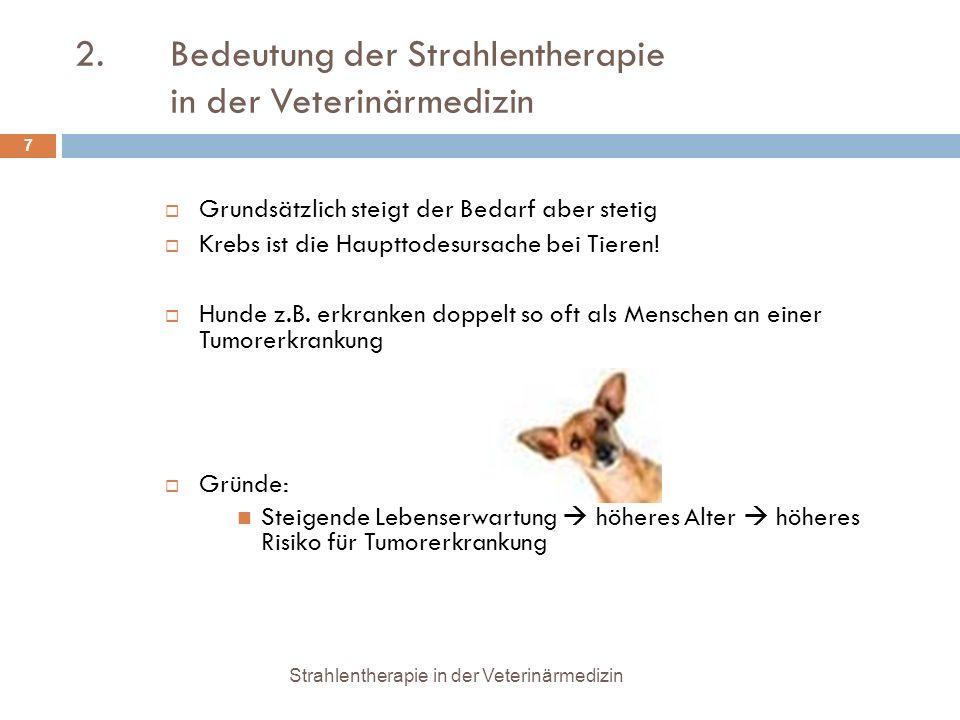 2. Bedeutung der Strahlentherapie in der Veterinärmedizin