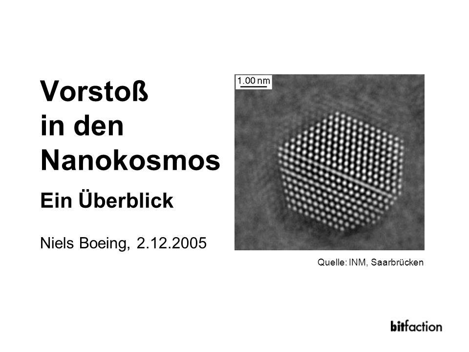 Vorstoß in den Nanokosmos Ein Überblick