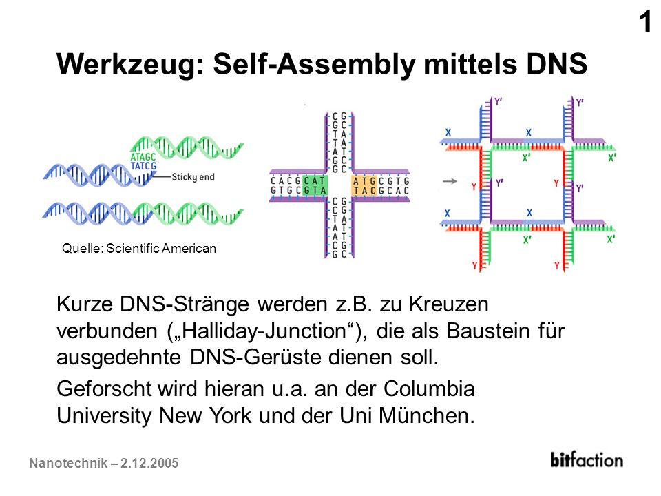Werkzeug: Self-Assembly mittels DNS
