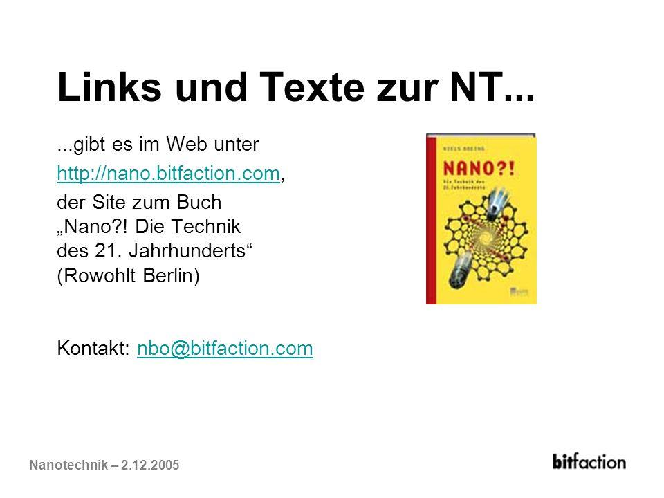 Links und Texte zur NT... ...gibt es im Web unter