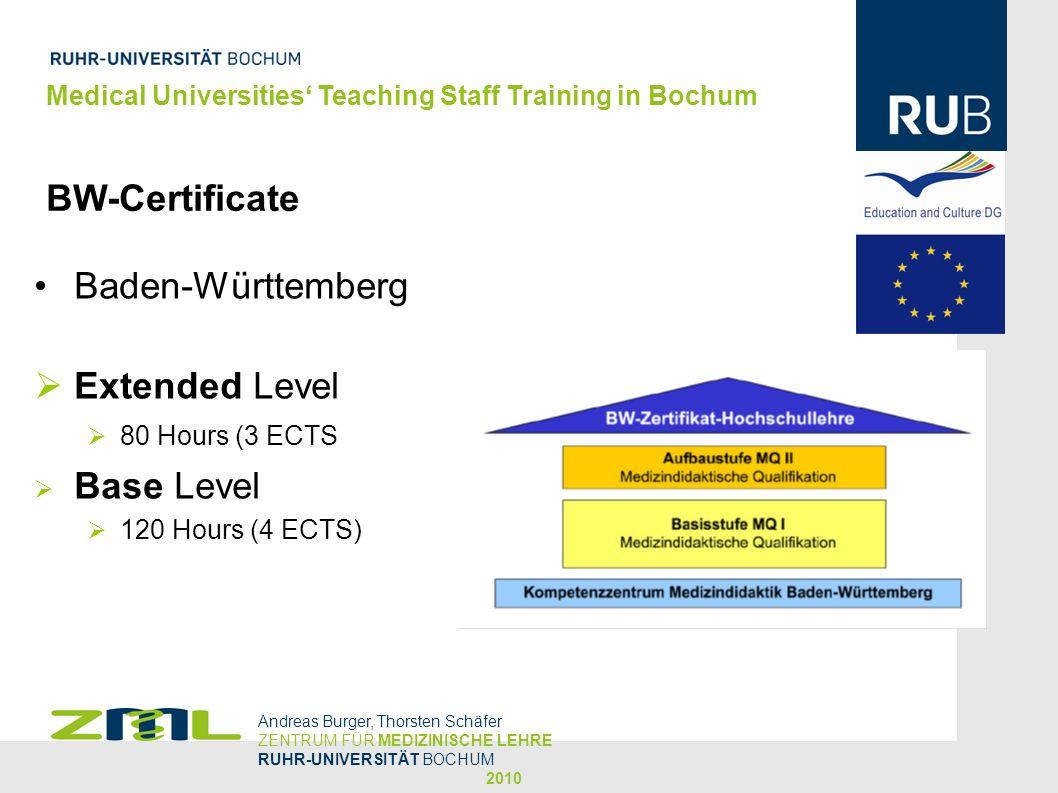 BW-Certificate Baden-Württemberg Extended Level Base Level