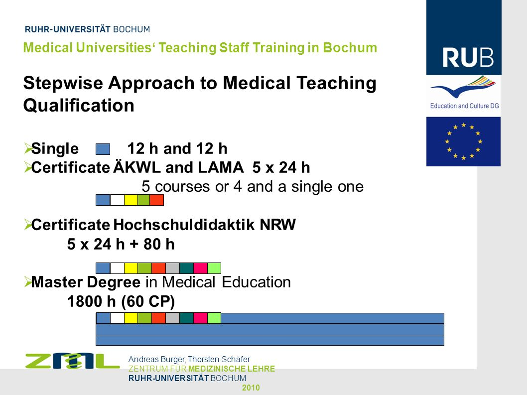 Stepwise Approach to Medical Teaching Qualification