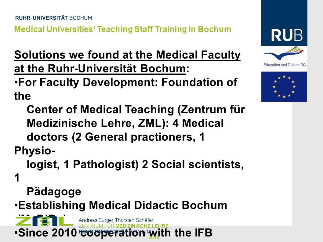 For Faculty Development: Foundation of the