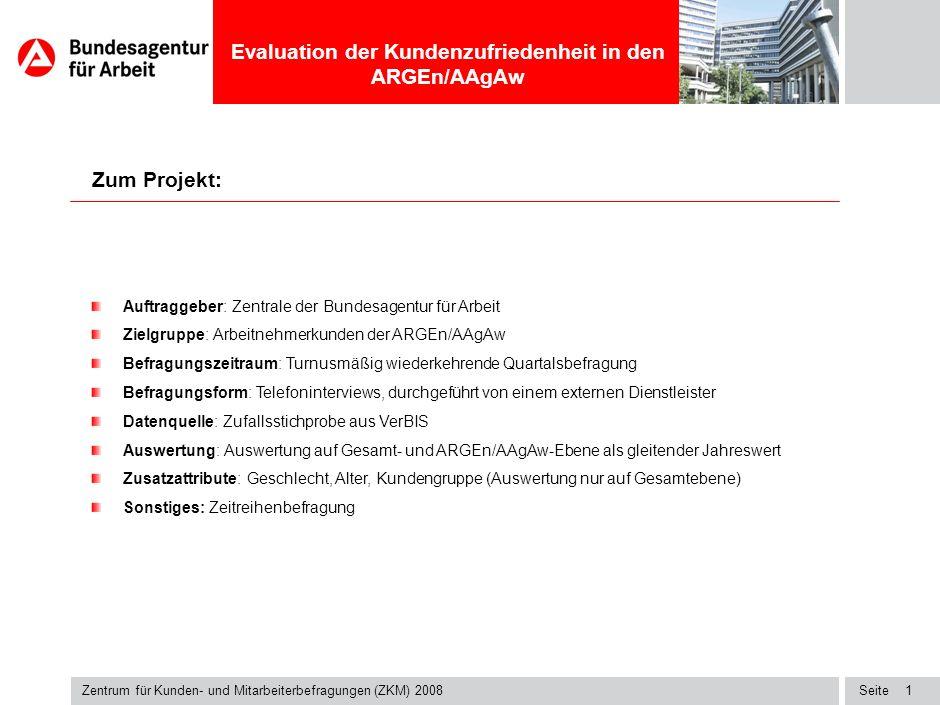 Zum Projekt: Auftraggeber: Zentrale der Bundesagentur für Arbeit