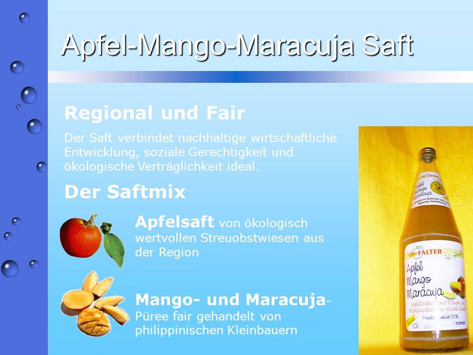 Apfel-Mango-Maracuja Saft
