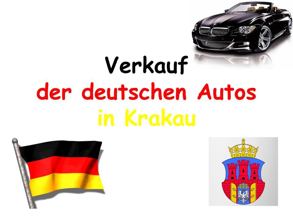 Verkauf der deutschen Autos in Krakau