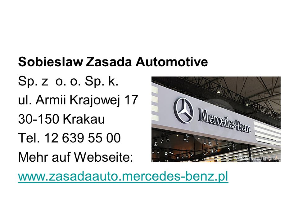 Sobieslaw Zasada Automotive Sp. z o. o. Sp. k. ul