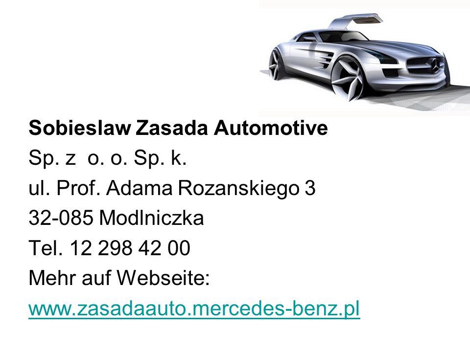 Sobieslaw Zasada Automotive Sp. z o. o. Sp. k. ul. Prof
