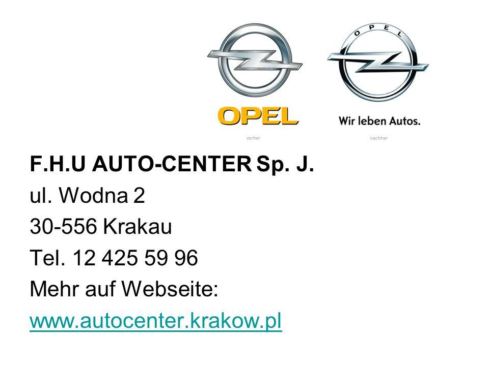 F.H.U AUTO-CENTER Sp. J. ul. Wodna 2. 30-556 Krakau. Tel. 12 425 59 96. Mehr auf Webseite: www.autocenter.krakow.pl.