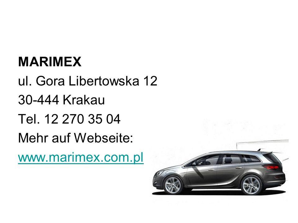 MARIMEX ul. Gora Libertowska 12. 30-444 Krakau.