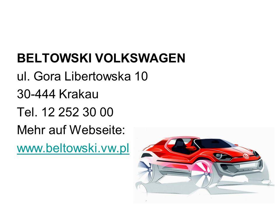 BELTOWSKI VOLKSWAGEN ul. Gora Libertowska 10. 30-444 Krakau. Tel. 12 252 30 00. Mehr auf Webseite: