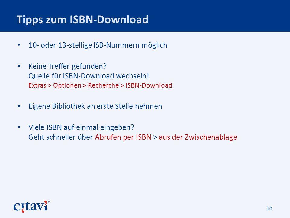 Tipps zum ISBN-Download