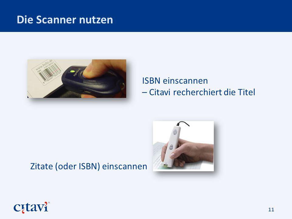 Die Scanner nutzen ISBN einscannen – Citavi recherchiert die Titel