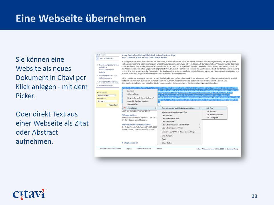 Eine Webseite übernehmen