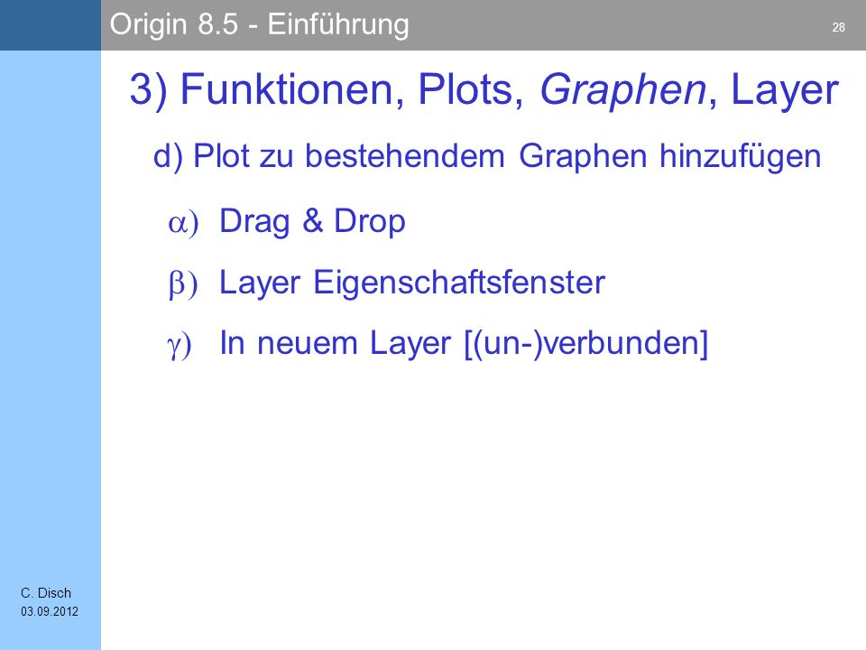 3) Funktionen, Plots, Graphen, Layer