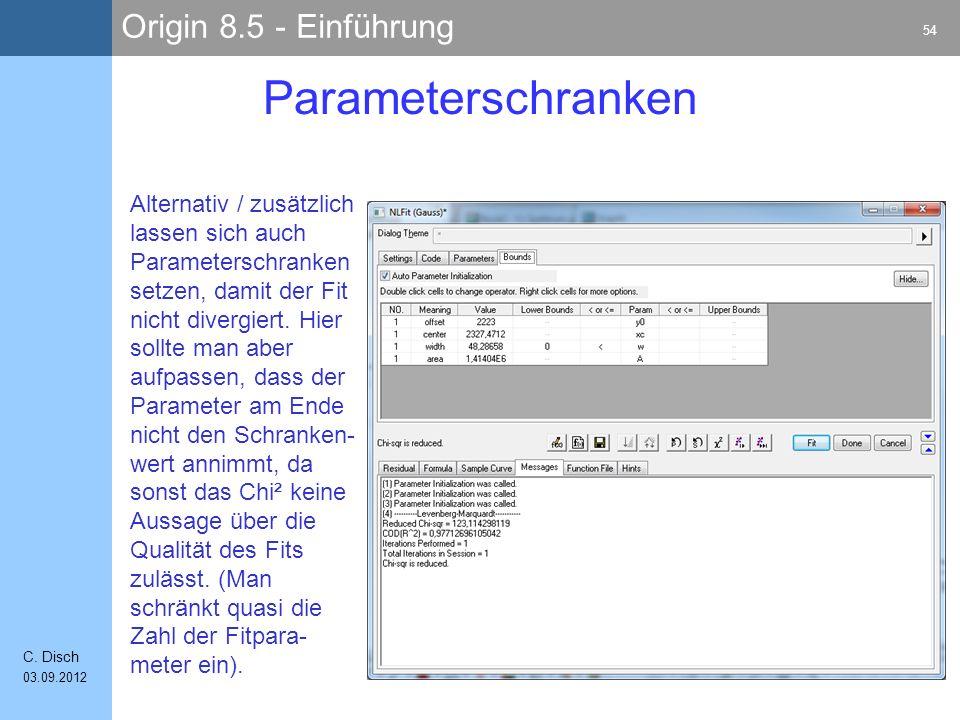 Parameterschranken