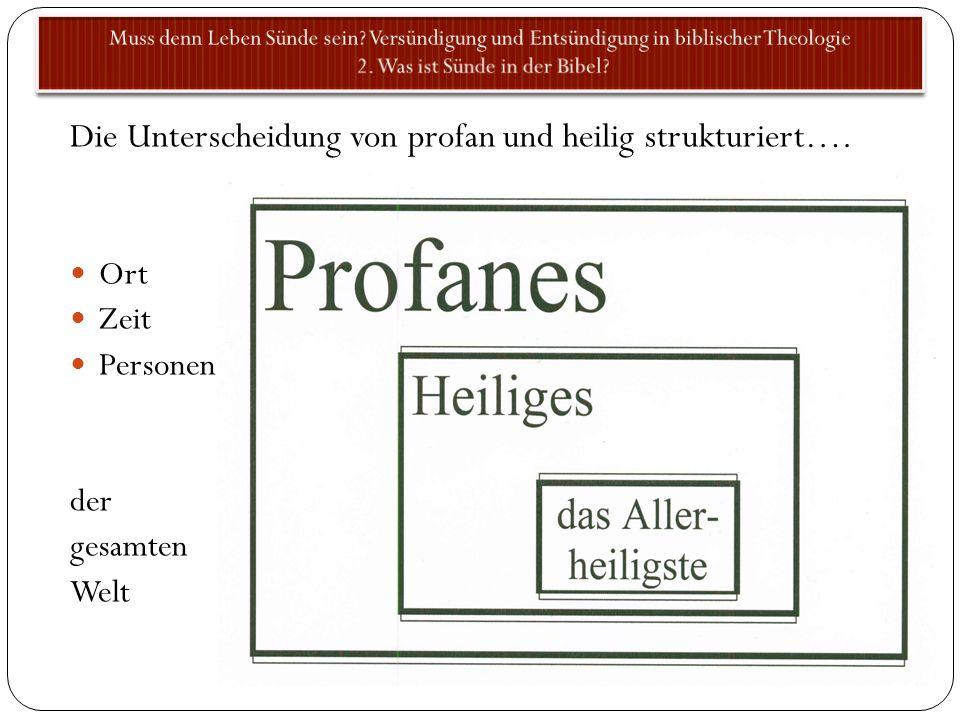 Die Unterscheidung von profan und heilig strukturiert….