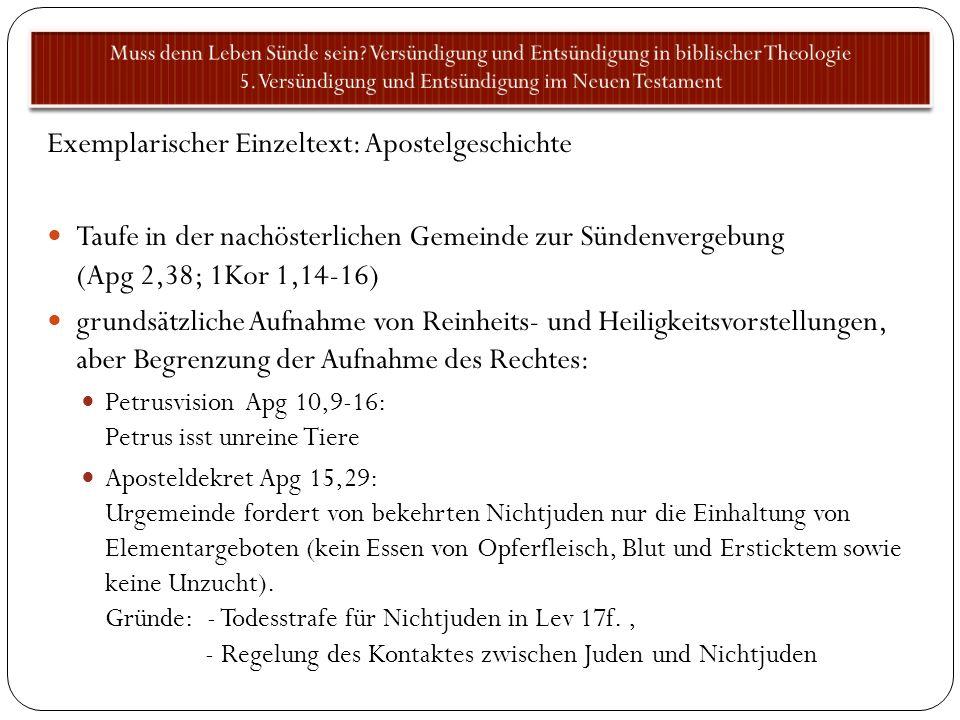 Exemplarischer Einzeltext: Apostelgeschichte