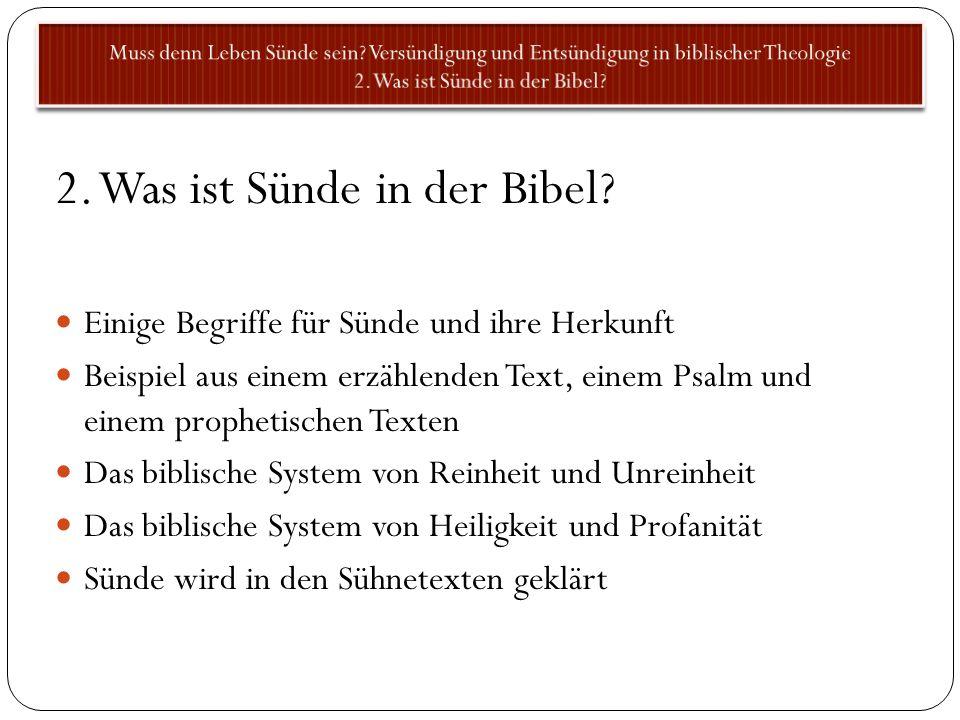 2. Was ist Sünde in der Bibel