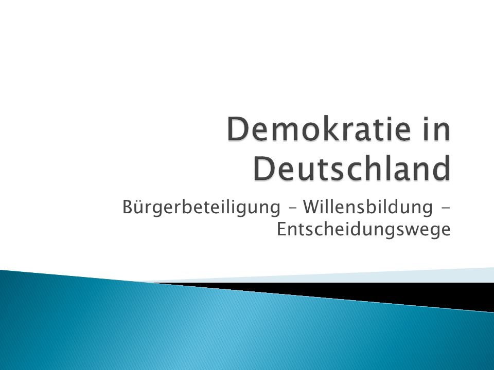 Demokratie in Deutschland