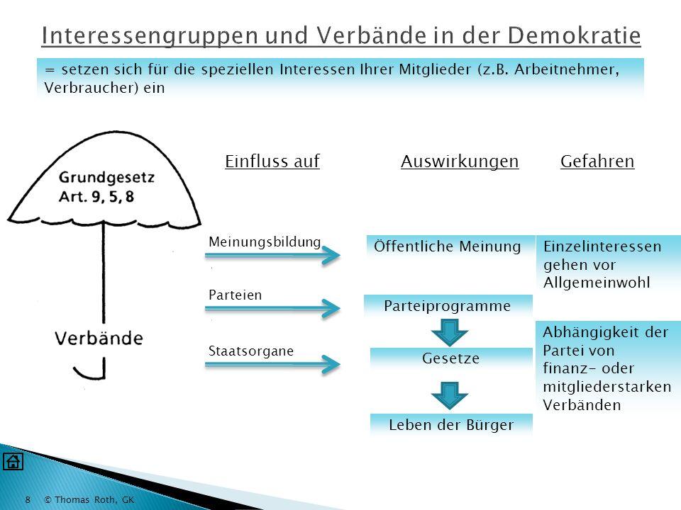 Interessengruppen und Verbände in der Demokratie