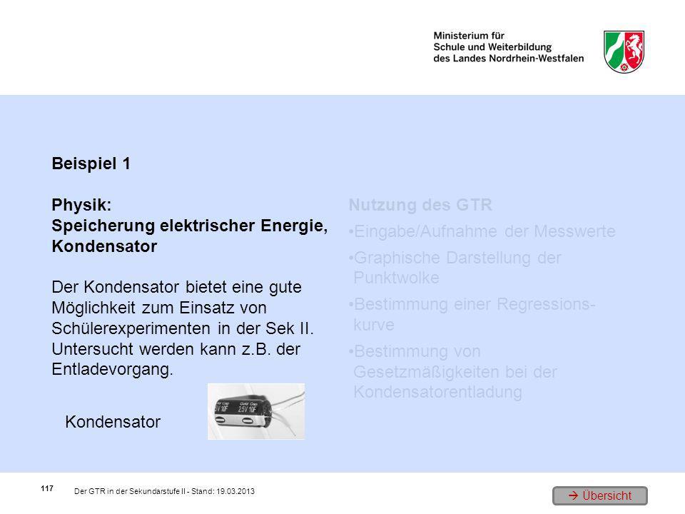 Speicherung elektrischer Energie, Kondensator